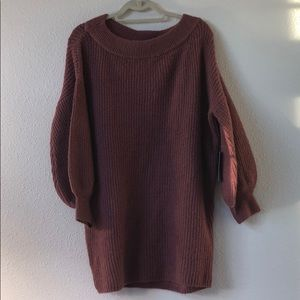 Express rose colored sweater dress